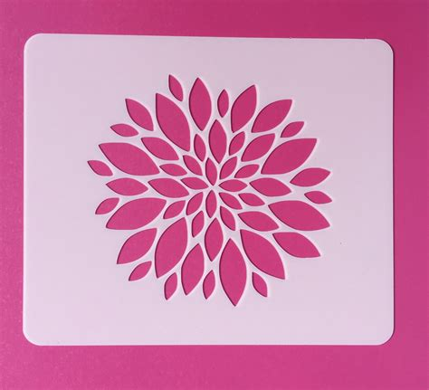 flower pattern for painting reusable flower stencil mylar flower stencil zinnia