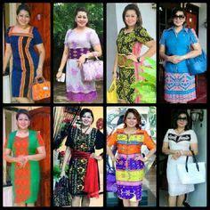 Set Kalung Tenun Bintari Hijau pakaian adat nagekeo ntt terdiri dari anting wea baju