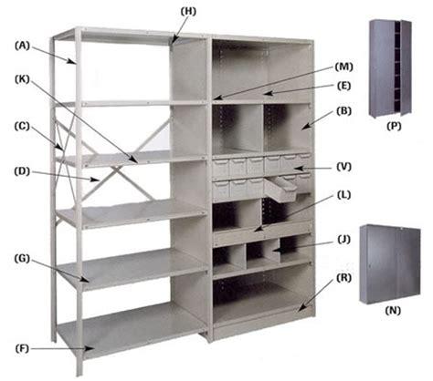 Metal Shelf Parts by Lyon Shelving Parts And Components Bin Shelving