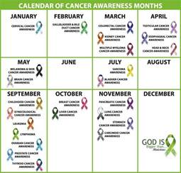 awareness months and colors monthly awareness calendar god is bigger than