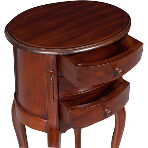 comodino ovale antica soffitta comodino ovale legno mogano 3 cassetti