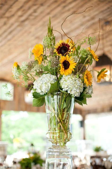 sunflower arrangements ideas sunflowers hydrangeas and centerpieces on pinterest
