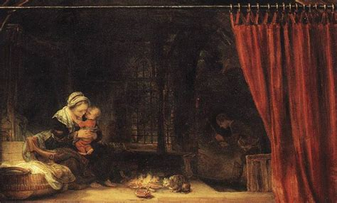 curtain paintings rembrandt the holy family with a curtain painting best