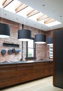 25 modern kitchens and interior brick wall design ideas