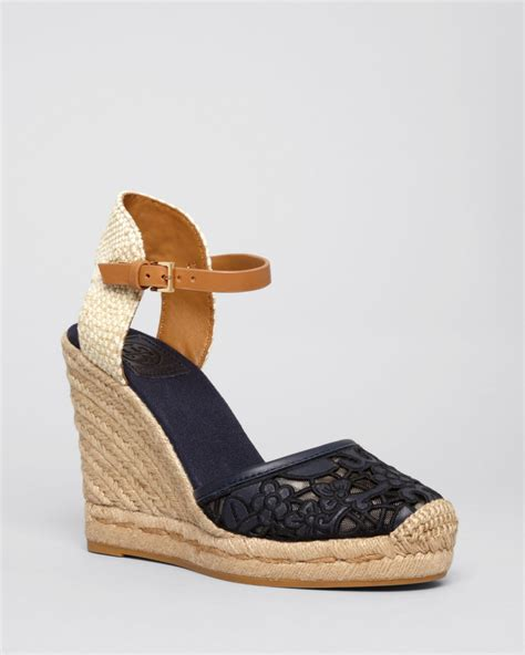 burch sandals wedge burch platform wedge espadrille sandals lucia lace