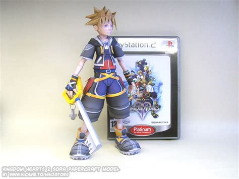 Kingdom Hearts Papercraft - sora papercraft size by ninjatoespapercraft on deviantart