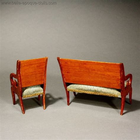 dolls house sofa and chairs antique dolls house furniture early french sofa with matching armchair ref m284