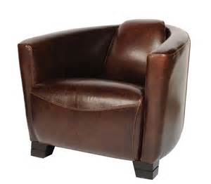 fauteuil cuir cigare chocolat