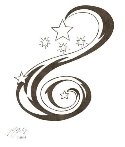 stars with swirls tattoo designs swirl designs