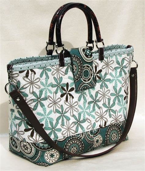 lazy girl designs 123 miranda day bag downloadable pattern add a detachable shoulder strap to any open top tote
