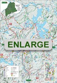 rangeley maine snowmobile trail map