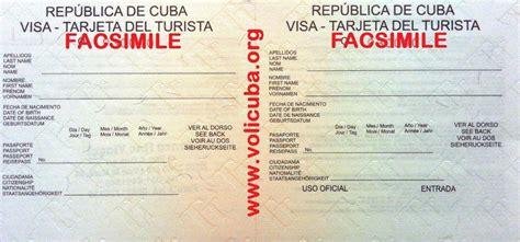 visto d ingresso cuba visto turistico per cuba volicuba org