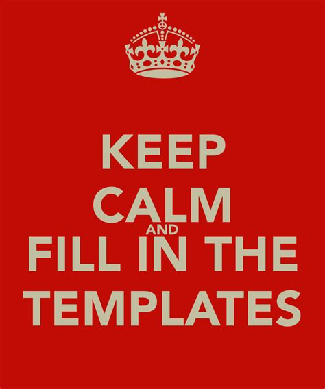 keep calm template free keep calm poster blank