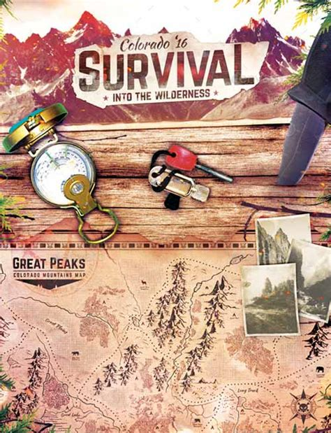 Download The Survival School Wilderness Flyer Template Outdoor Flyer Template