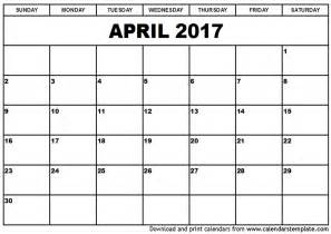Calendar Templates by 2017 April Calendar Templates
