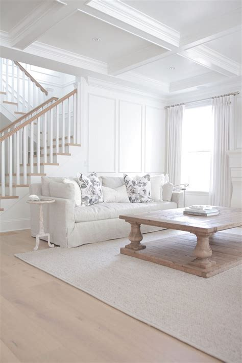 white living room restoration hardware braided wool rug copycatchic
