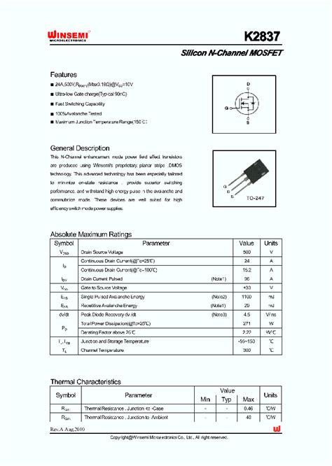 datasheet c828 transistor pdf k2837 5349493 pdf datasheet ic on line