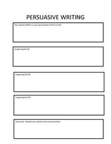 Essay Organizer Template by Persuasive Essay Graphic Organizer Rtf Persuasive Writing Organizer Writing Graphic