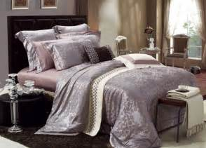 4 piece jacquard luxury bedding set sets082