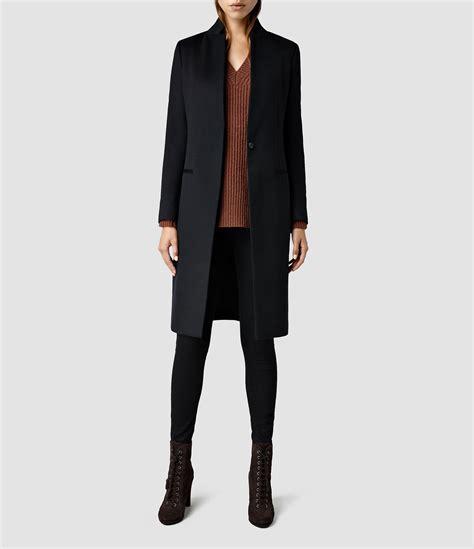 allsaints eryn coat in black lyst