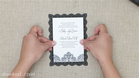 printers for diy wedding invitations free lace wedding invitation template and tutorial