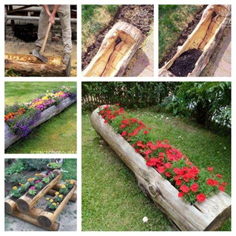 Diy Log Planter wonderful diy beautiful tire planter