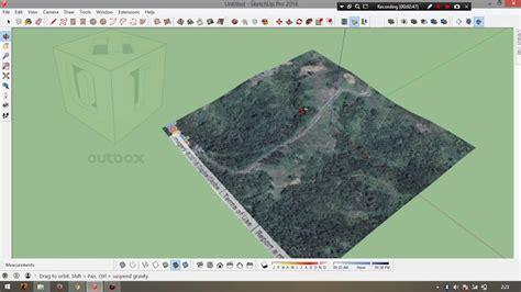 tutorial sketchup google earth membuat kontur dari google earth menggunakan sketchup