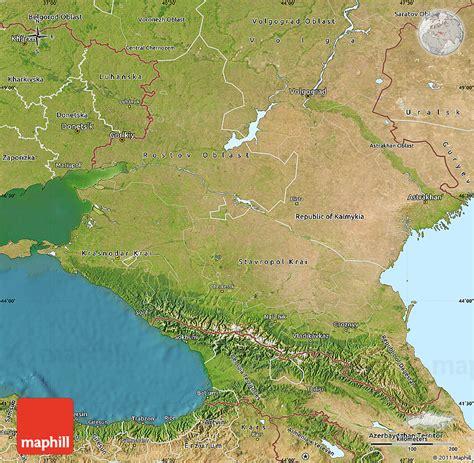 russia map satellite satellite map of caucasus
