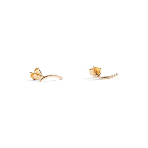 Ear Stud curved ear stud gold