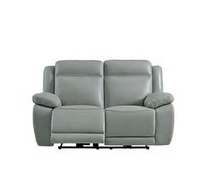 canap 233 2 places relax 233 lect sunday cuir pu gris canap 233 s but