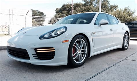 Porsche Panamera Turbo S 2017 Wallpapers Hd White Black