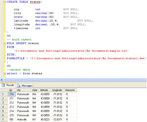 format file in bulk insert bulk insert and format file error quot cannot bulk load