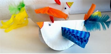 Bird Paper Plate Craft - paper plate birds munchkins and