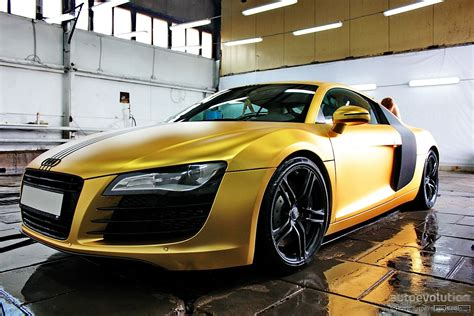 audi r8 gold matte gold audi r8 in russia photo gallery autoevolution