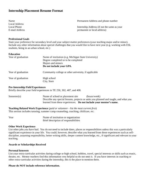 resume format for teaching profession professional resume template