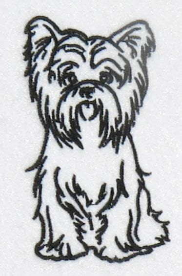 watercolor tattoo yorkshire terrier yorkie embroidery design apex