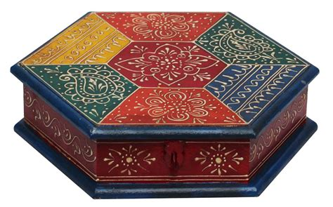 decorative boxes for dry fruits hexagon shaped 9 decorative box in bulk wholesale