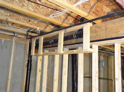 basement framing exle 4 basement finish design