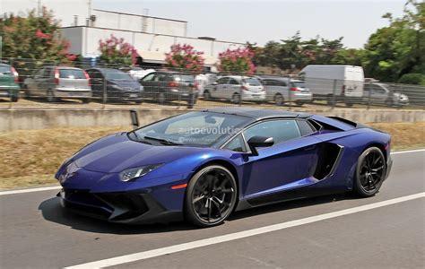 Lamborghini Aventador Production Production Lamborghini Aventador Sv Roadster Spotted In