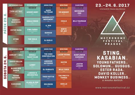 Metronome Festival Program Festival Metronome Zveřejnil Program Po Dnech Poslouchej Net