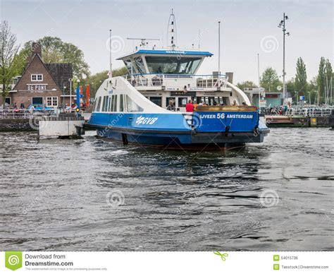 ferry boat amsterdam amsterdam ij ferry holland editorial photo image 54015736
