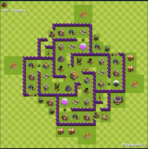 layout hybrido cv 7 centro da vila nivel 7 melhor layout clash of clans dicas