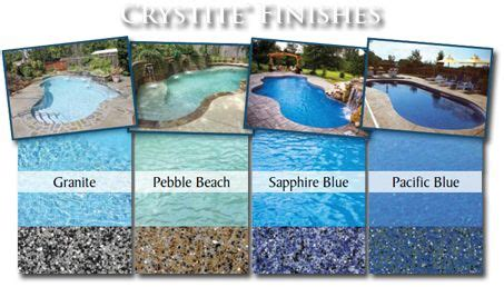 pool colors crystite finishes pool see more best ideas