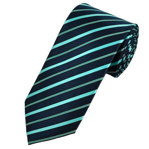 blue patterned ties navy blue aqua striped patterned tie from ties planet uk