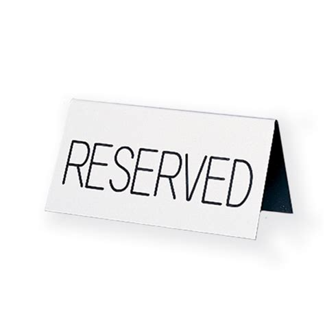 reserved table tent sign engraved countertop acrylic