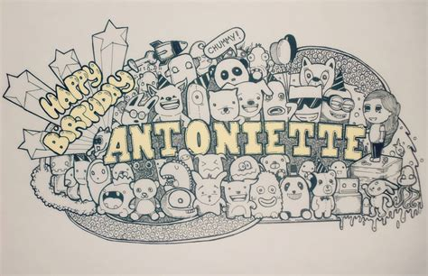 doodle happy birthday minion happy birthday antoniette by 16minuteslate on deviantart