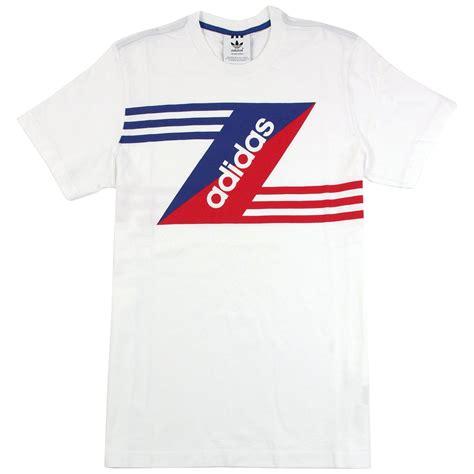 Shirt Logo Adidas retro linear logo t shirt in white by adidas originals