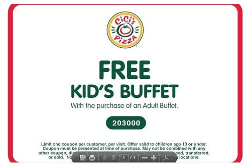 pizza delight buffet coupons