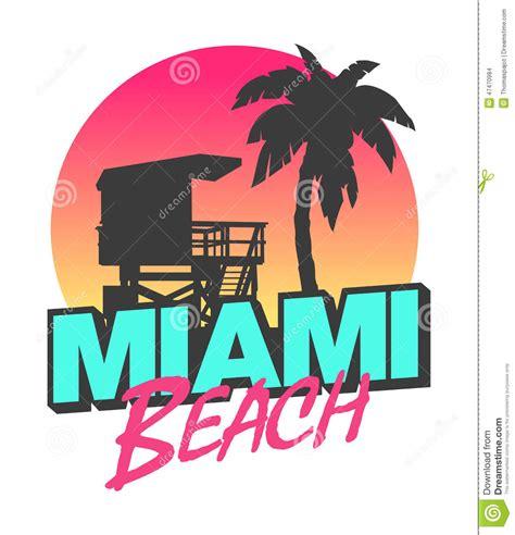 design graphics miami miami beach stock vector image 47470984