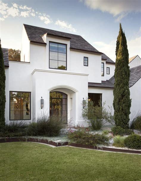 white houses  black trim inspiration life